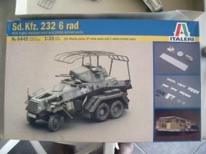 un SdKfz 232 en cours de peinture SdKfz-232-1-300x225